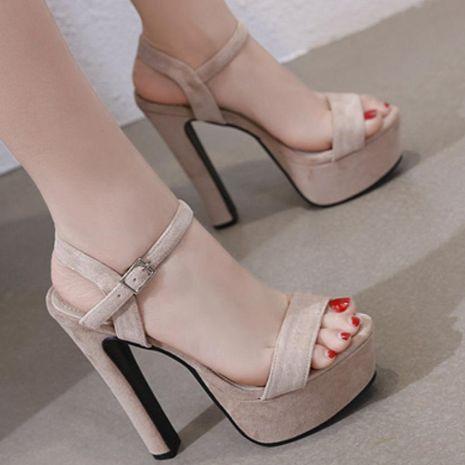 Plataforma de tacón grueso de moda con sandalias de tacón alto NHSO153258's discount tags