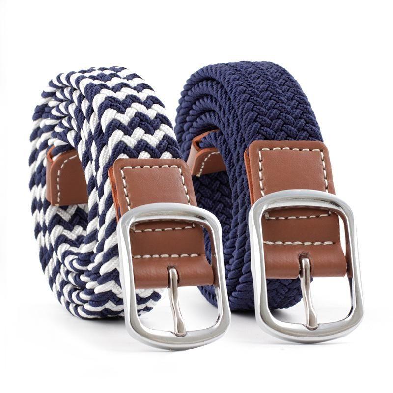 Fashion elastic stretch woven canvas belt NHPO153274