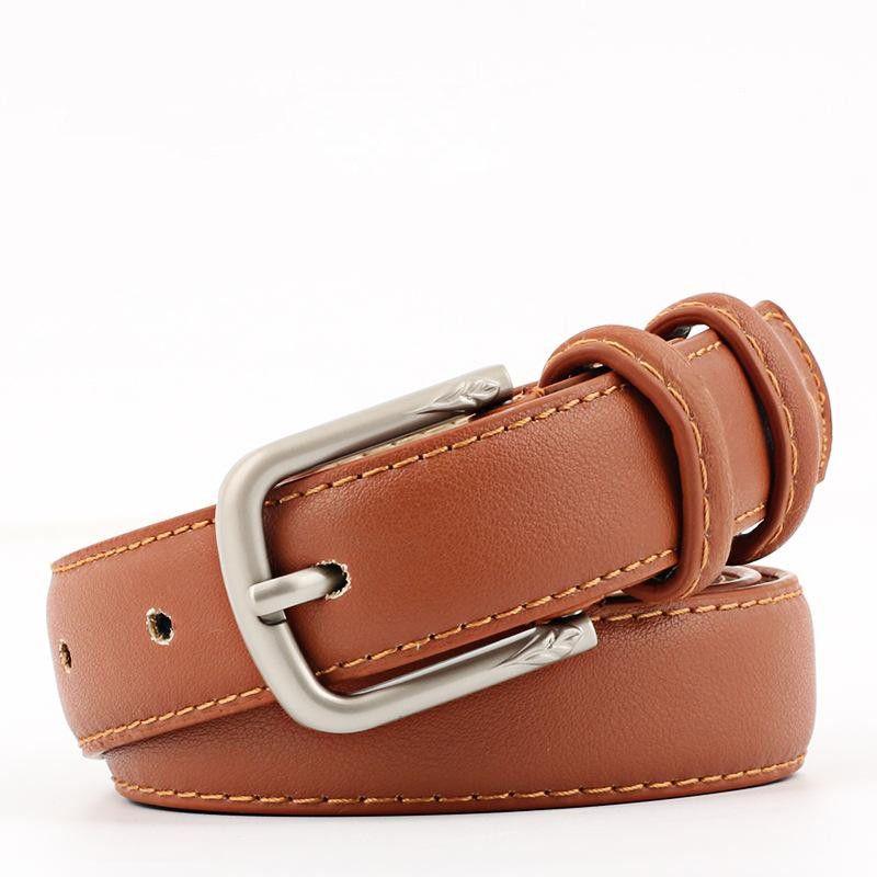 Fashion imitation leather metal buckle women belts NHPO153281