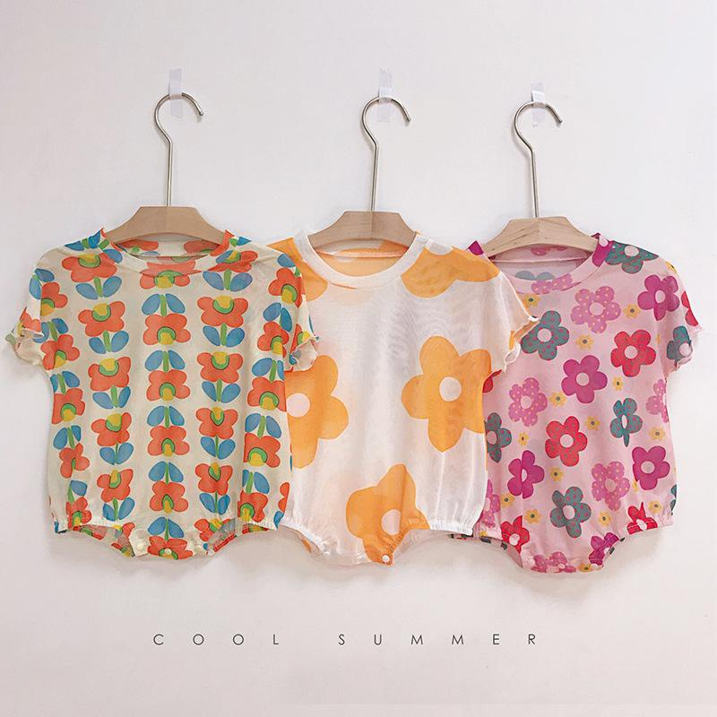 New 0-3 year old baby mesh rompers NHTV153285
