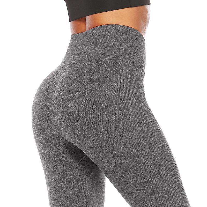 Fashion yoga pants running hip fitness pants sports leggings NHMA153302