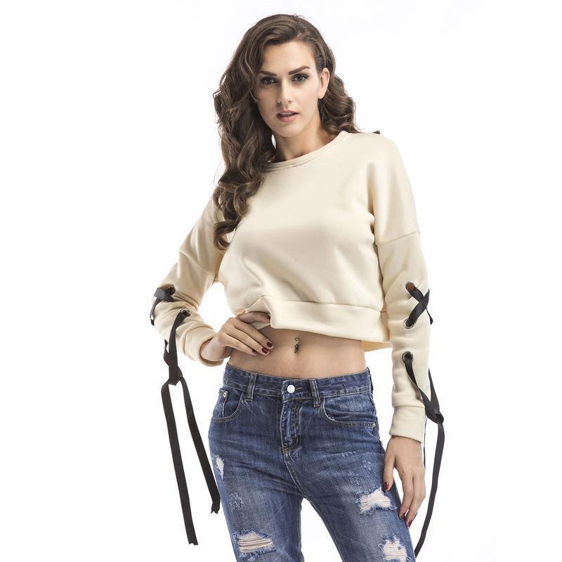 Fashion plus velvet strap short long sleeve sweater NHTK153312