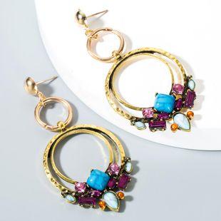 Bohemian ethnic wind flower acrylic alloy earrings NHLN153371's discount tags