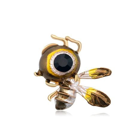 Fashion cartoon personality bee alloy brooch NHDR153410's discount tags