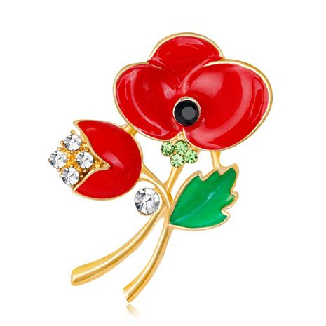 Womens Floral Plating Alloy Brooches NHDR153413's discount tags