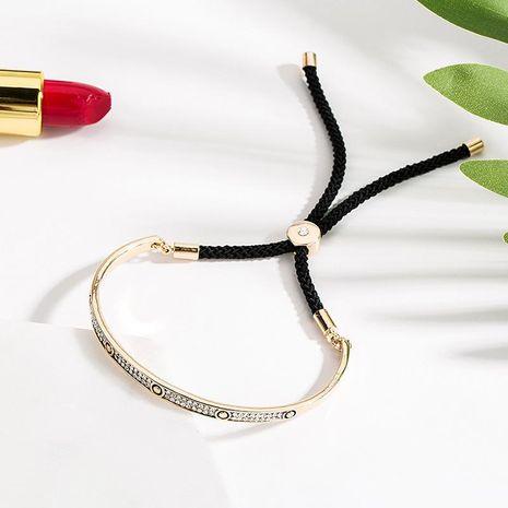 Fashion adjustable versatile drawstring alloy bracelet NHLL153422's discount tags