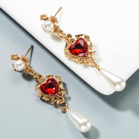 Love Drops Pearl Long Earrings NHLN153430's discount tags