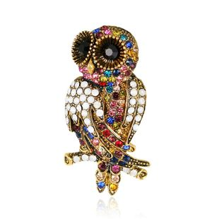 Fashion owl animal suit dress brooch NHDR153441's discount tags