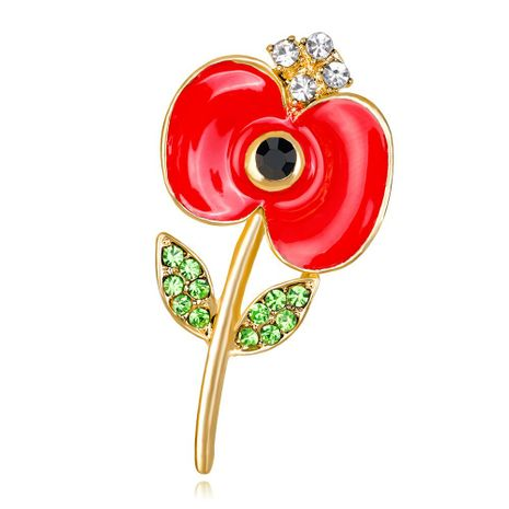 Womens Floral Plating Alloy Brooches NHDR153447's discount tags