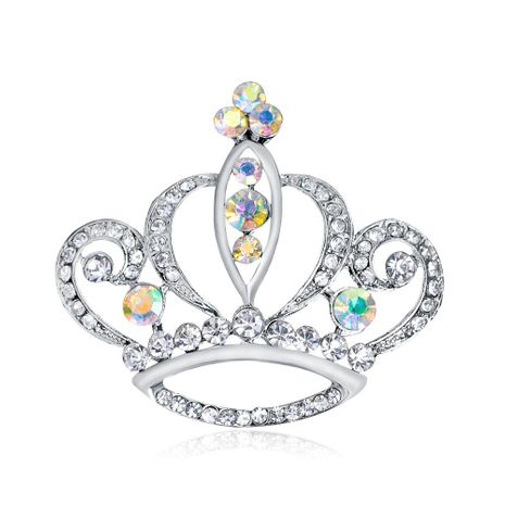 Fashion crown crystal flower brooch NHDR153449's discount tags