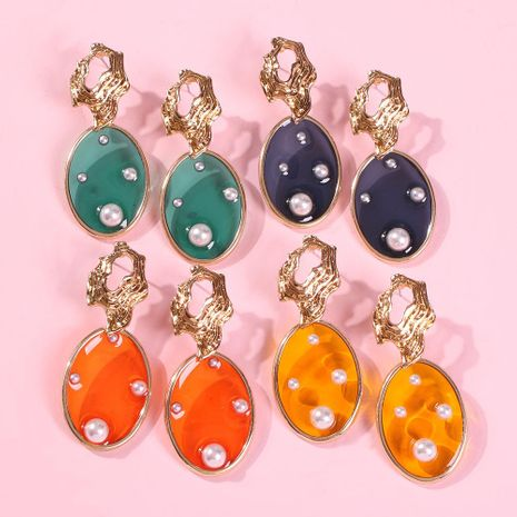 Fashion holiday style geometric imitation pearl alloy earrings NHMD153458's discount tags
