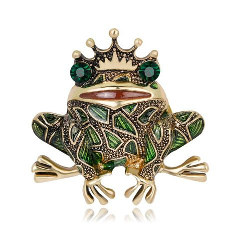 Fashion personality frog king brooch NHDR153462's discount tags