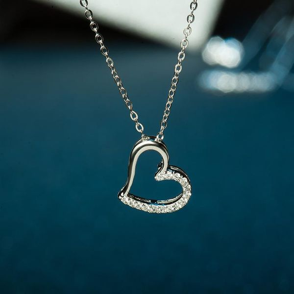 Womens Heart Diamond Silver Choker NHLL153487