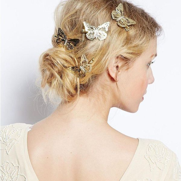 Womens Butterfly Plating Alloy Hair Accessories NHXR153501