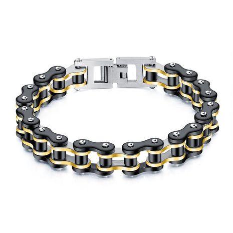Bracelets et bracelets en acier inoxydable plaqué géométrique pour homme NHOP153538's discount tags