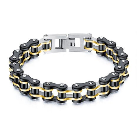 Mens Geometric Plated Stainless Steel Bracelets & Bangles NHOP153538's discount tags