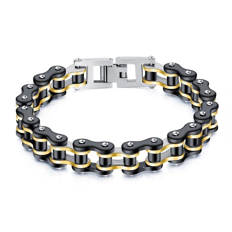 Mens Geometric Plated Stainless Steel Bracelets & Bangles NHOP153538