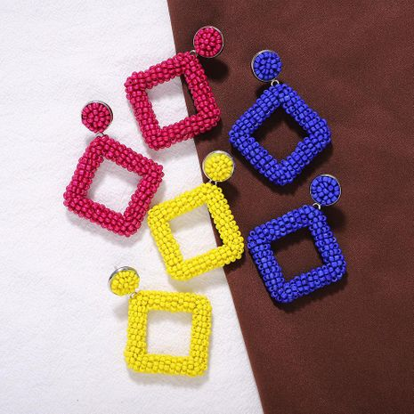 Fashion geometric beads earrings NHJQ153553's discount tags