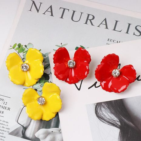 New drip flower stud earrings NHJJ153559's discount tags