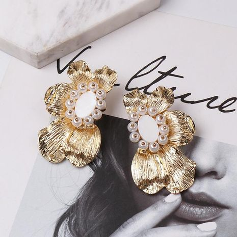 Fashion alloy flower earrings NHJJ153560's discount tags