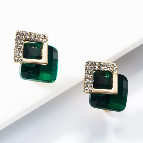 Fashion multi-layer square rhinestone stud earrings NHJE153565's discount tags