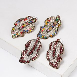 New retro leaf color studded stud earrings NHJJ153569's discount tags