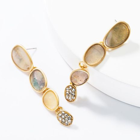 Fashion multi-layer geometric alloy drop oil rhinestone earrings NHJE153571's discount tags