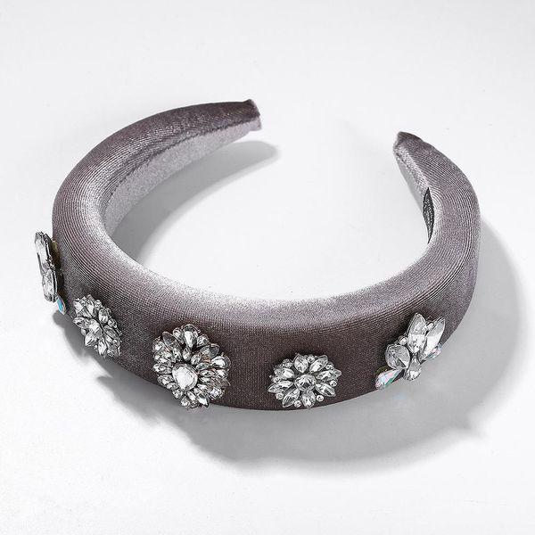 Fashion velvet diamond sponge headband NHJQ153579