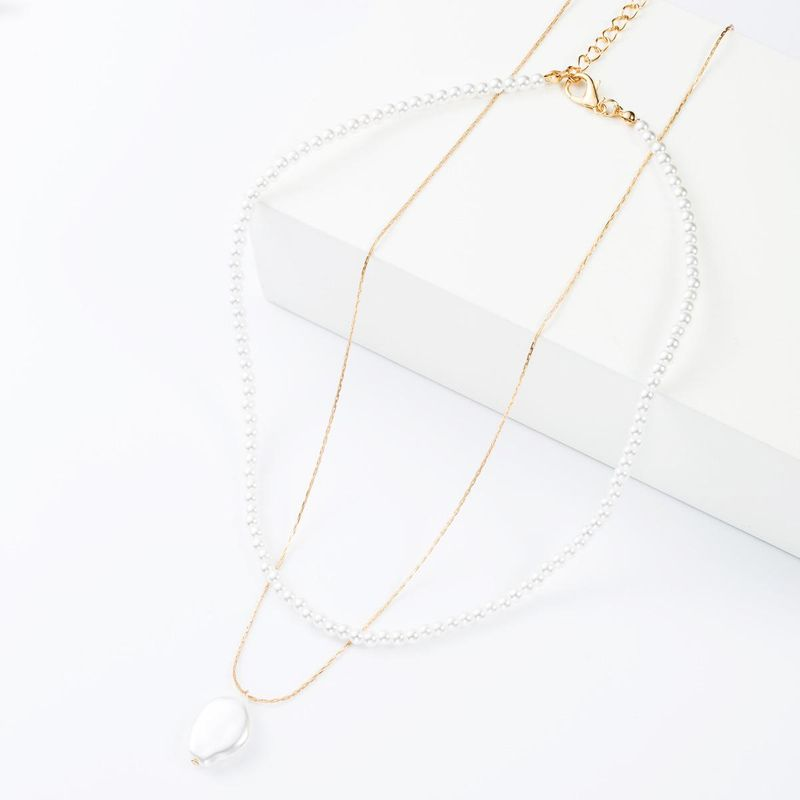 Fashion alloy pearl necklace NHJE153600