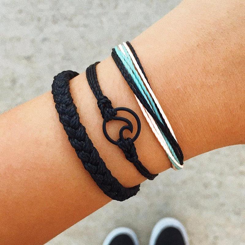 Fashion hand-woven wave bracelet set NHPV153636