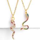 Collier serpent cratif avec pierres prcieuses artificielles NHAS153466