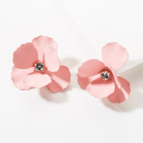 Fashion spray paint flower alloy earrings NHJE148940's discount tags