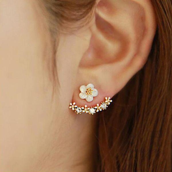 Korean fashion little daisy flower earrings NHDP149018