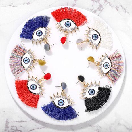 Vintage drip-encrusted eye tassel earrings NHJQ149034's discount tags
