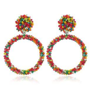 Fashion handmade beaded acrylic earrings NHKQ149049's discount tags