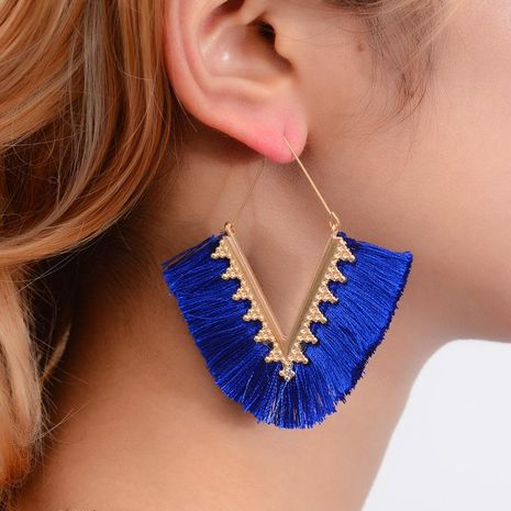 Fashion exaggerated geometric tassel earrings NHDP149052's discount tags