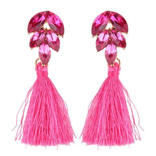 Womens Wave Hand-knitted Alloy Earrings NHJQ149059's discount tags