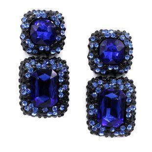 Vintage long delicate natural gemstone stud earrings NHJJ149062's discount tags
