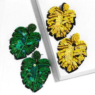 New Leaf Bead Earrings NHAS149065's discount tags