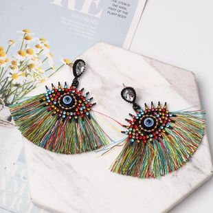 Fashion vintage diamond eye tassel earrings NHJJ149073's discount tags