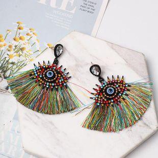 Fashion vintage diamond eye tassel earrings NHJJ149073's discount tags