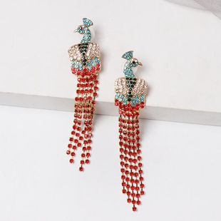 New color peacock stud stud earrings NHJJ149077's discount tags