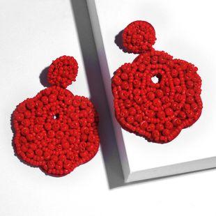 Fashion bead flower earrings NHAS149069's discount tags