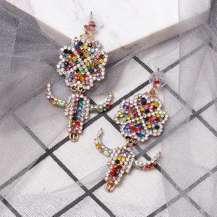 New color diamond four-leaf clover earrings NHJJ149080's discount tags