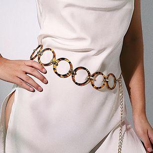 Fashion leopard geometric circle waist chain body jewelry NHXR149112's discount tags