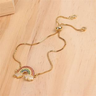 Fashion color zircon rainbow bracelet draw fine bracelet NHPY149128's discount tags