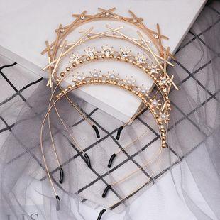 Fashion alloy diamond headband NHJJ149144's discount tags