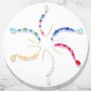 Womens Geometric Pearl Earrings NHJQ149043