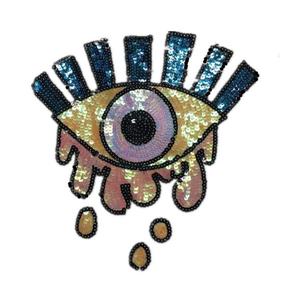 Fashion creative patch sequins eye cloth stickers NHLT153685