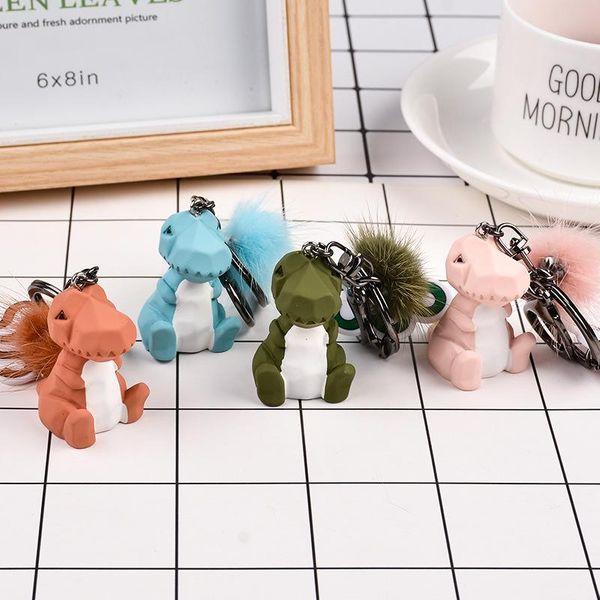 Fashion geometric faceted dinosaur doll keychain NHCB153849